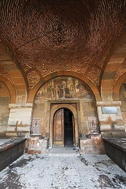 Frescoes Depicting Saints On The Tympanum Above The Door To Saint Gayane Church, Vagharshapat, Armavir Province, Armenia