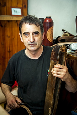 A Man Crafting From Leather, Pelotas, Rio Grande Do Sul, Brazil