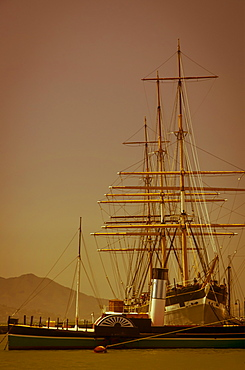 Historic ships in the water, San Francisco, California, United States of America