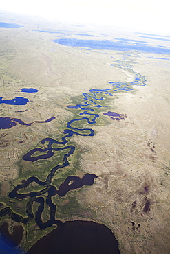 River Running Through The Coastal Plains, North Slope Borough, Alaska, United States Of America