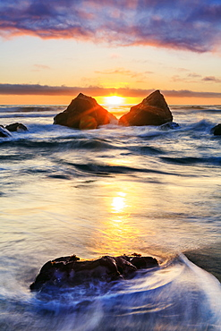 False Klamath Cove Beach, Redwood National And State Parks, California, United States Of America