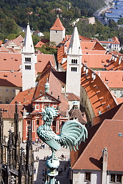 Rooster On A Church Steeple, Prague, Czech Republic
