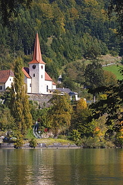 Church East Of Grein, Danube River, Austria