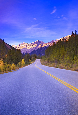 Medicine Lake Highway In Jasper, Alberta, Canada