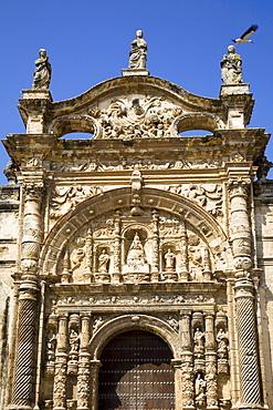 El Puerto De Santa Maria, Andalusia, Spain; The Front Of An Ornate Building