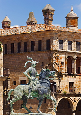Statue Of Conquistador Francisco Pizarro (By American Sculptor Charles Cary Rumsey); Trujillo, Caceres Province, Spain