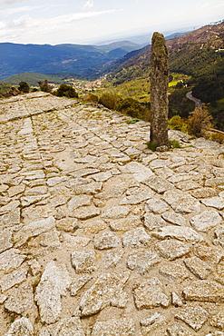 Roman Road At Puerto Del Pico, Near Mombeltran; Sierra De Gredos, Avila Province, Spain