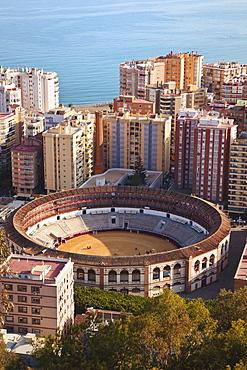 La Malagueta Bullring And Port; Malaga, Andalusia, Spain