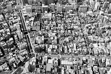 Aerial view of residential district