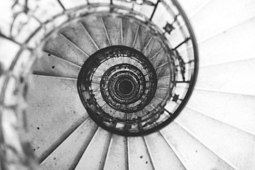 Directly above shot of spiral staircase in St. Stephen's Basilica