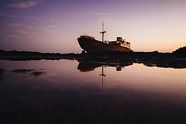 Stranded boat, Costa Teguise, Canary Islands, Spain