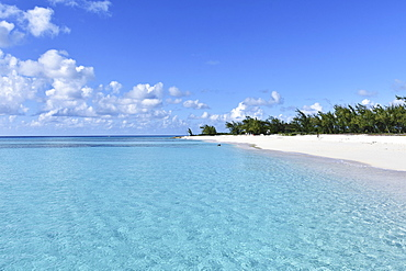 Idyllic, tranquil blue ocean and sunny beach, Grand Turk Island, Turks and Caicos Islands