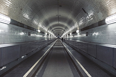 Old Elbe tunnel, Hamburg, Germany
