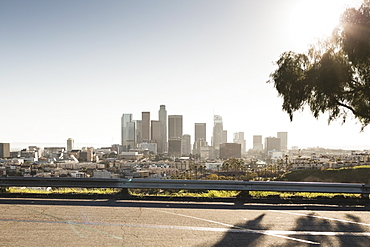 Sunny cityscape, Los Angeles, California, USA