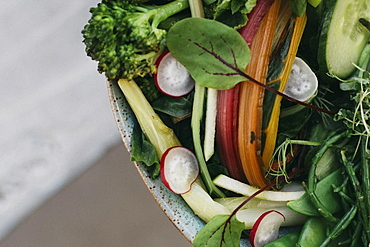 Close up vegetable salad
