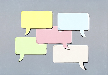 Speech bubble adhesive notes
