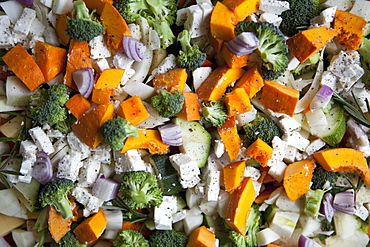 Full frame shot of vegetable salad