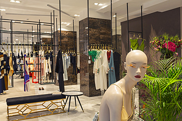 Mannequin and clothing in department store