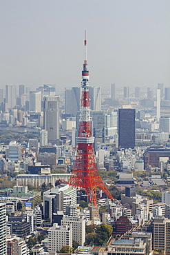 Tokyo Tower amidst cityscape