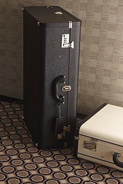 Luggage trunks in room