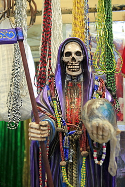 Figure of death for sale at La Merced Market
