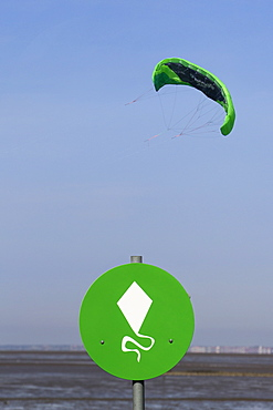 Low angle view of parasail against sky