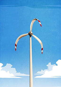 Melted wind turbine