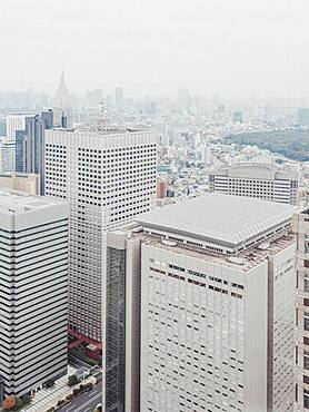 Highrise buildings and cityscape, Tokyo, Japan