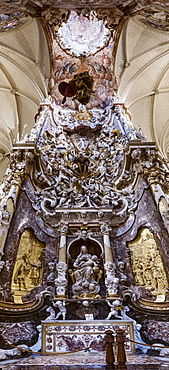 Low angle view of altar in toledo cathedral, toledo, spain