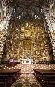 View of altar in toledo cathedral, toledo, spain