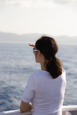 A woman looking out to sea