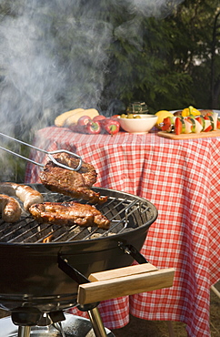 Preparation of food for barbeque