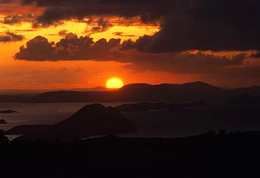 Sunset over the sea, West End, Tortola, British Virgin Islands