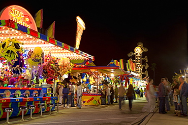 Group of people in an amusement park, Riverfront Park, Cocoa Beach, Florida, USA