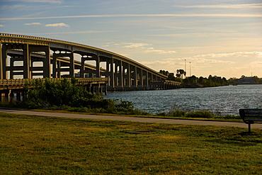 Bridge over a river, Cocoa Beach, Florida, USA