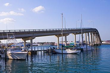Bridge across the sea, Eastern Bridge, Paradise Island, Bahamas