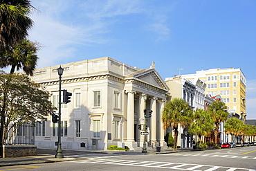 Facade of a bank, National Bank of South Carolina, Charleston, South Carolina, USA
