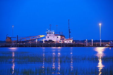 Crane at a commercial dock, Charleston, South Carolina, USA