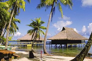 Stilt house in the sea, Bali Hai Hotel, Bora Bora, Society Islands, French Polynesia