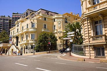 Buildings along a road, Monte Carlo, Monaco