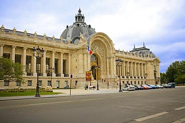 Cars parked in front of a museum, Petit Palais, Paris, France