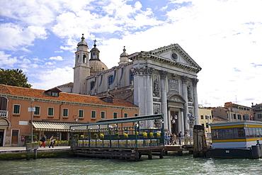 Church at the waterfront, Chiesa Dei Gesuati O Santa Maria Del Rosario, Giudecca Canal, Venice, Italy