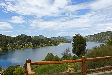 Lake passing through mountains, Lake Nahuel Huapi, San Carlos De Bariloche, Argentina