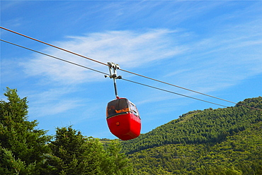 Low angle view of an overhead cable car, San Carlos De Bariloche, Argentina
