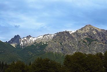 Clouds over a mountain range, San Carlos De Bariloche, Argentina