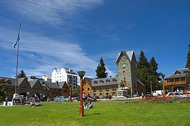 Park in front of a building, Civic Center, San Carlos De Bariloche, Argentina