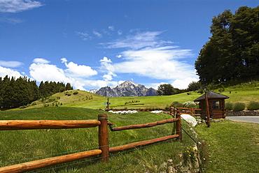 Railing on a landscape, San Carlos De Bariloche, Argentina