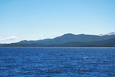 Lake in front of mountains, Lake Nahuel Huapi, San Carlos De Bariloche, Argentina