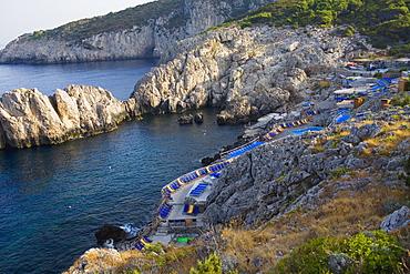 High angle view of a beach, Marine Piccola Beach, Capri, Campania, Italy