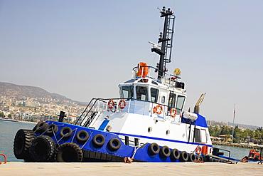 Tugboat at the dock, Ephesus, Turkey